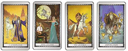 Le Tarot de la Unorne - Juego de 78 tarjetas de visión con explicación de 78 hojas (libro en francés)