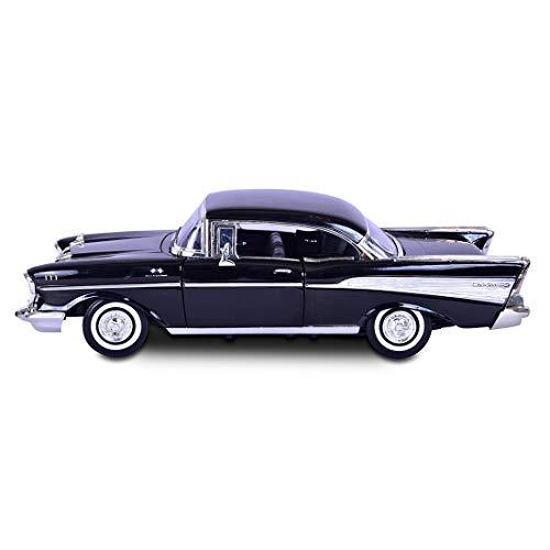 Motormax - 73180r - Véhicule Miniature - Modèle À L'échelle - Chevrolet Bel Air - 1957 - Echelle 1/18