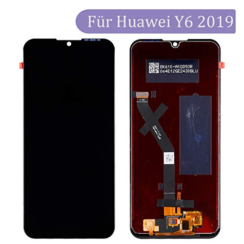 Tangzhi LCD Display Kompatibel mit Huawei Y6 2019 MRD-LX1F, MRD-LX1, MRD-LX3 Y6 Prime 2019 Y6 Pro 2019 MRD-LX2 Schwarz (ohne Rahmen) LCD Display Touchscreen Bildschirm Digitizer Assembly Glas + Tools