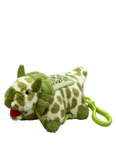 Pillow Pet Dream Lites 4' Keychain Backpack Clip Green Triceratops