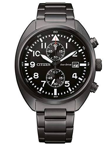 CITIZEN Herren Analog Eco-Drive Uhr mit Edelstahl Armband CA7047-86E