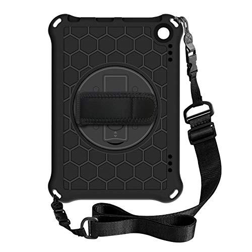 Wivarra Funda para Tableta para Amazon Fire HD 8 / HD 8 Plus 2020 Funda Protectora AnticaíDas con Soporte para Tableta (Negro)