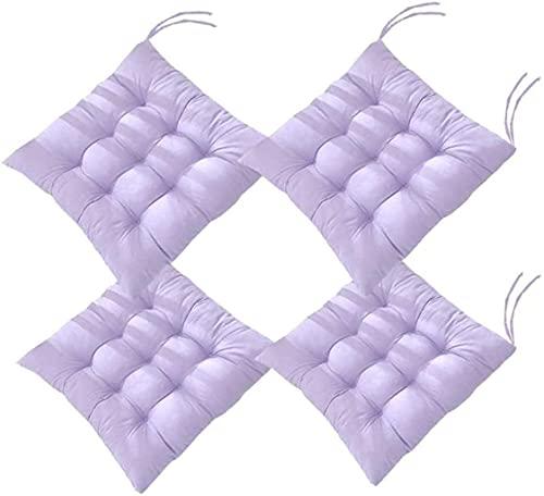 AMYZ Imbottiture per sedie,Imbottiture per sedie con Lacci,Set di 4 Imbottiture per sedili Colorate,Cuscino Quadrato Morbido per Sedia Cuscino per Sedile 100% Cotone Ideale per la Sala da Pranzo