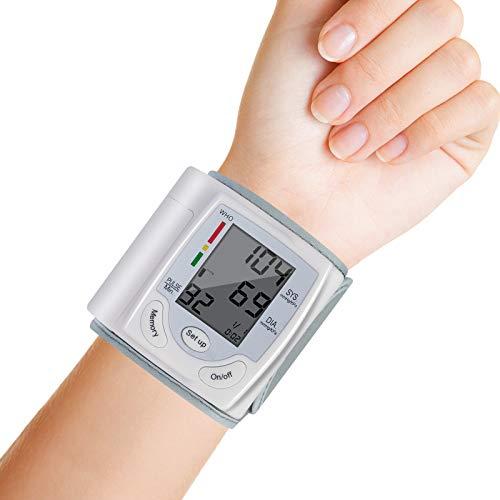 Rehomy Monitor de presión arterial, monitor digital preciso automático de la muñeca BP con puño grande para uso en el hogar