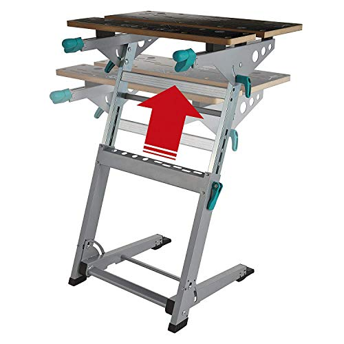 HWZQHJY Portable Workbench, Foldable & Height Adjustable Clamping and Machine Table