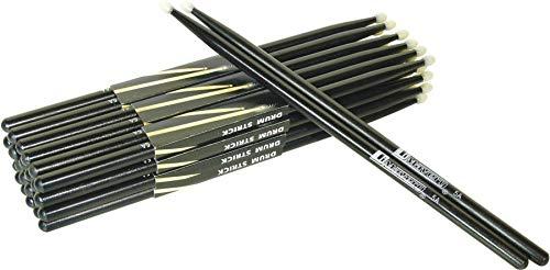 Dimavery DDS-5A bacchette 5A per batteria punta in nylon nere - CONFEZIONE DI 3 COPPIE