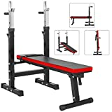 TnP Adjustable Folding Weight Bench Shoulder Folding Home Heavy Duty Multiuse Barbell Flat Exercise Gym - (XQBH-10)