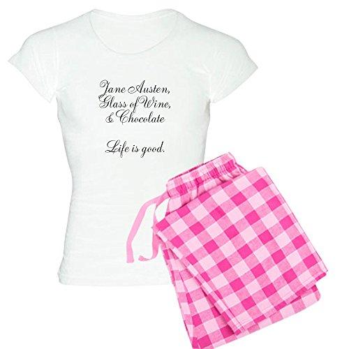 CafePress Life is Good Womens Novelty Cotton Pajama Set, Comfortable PJ Sleepwear
