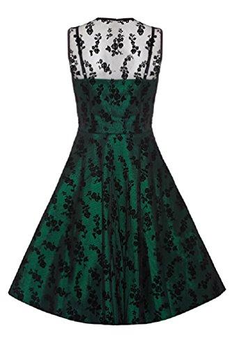 Neue Smaragd Grün Voodoo Vixen 50er Jahre Rockabilly Vintage Stil Spitzen Kleid (4XL) - 3