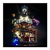 LAIQIAN Juego de iluminación LED para el Modelo Ninjago City, Compatible con Bloques de iluminación Lego 70620 City Masters of Spinjitzu - sin Juego Lego
