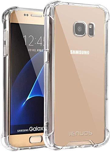 Jenuos Cover Samsung Galaxy S7, Custodia Trasparente Antiurto Paraurti Silicone Trasparente Cover TPU Bumper + Hard PC Indietro per Samsung Galaxy S7 5.1