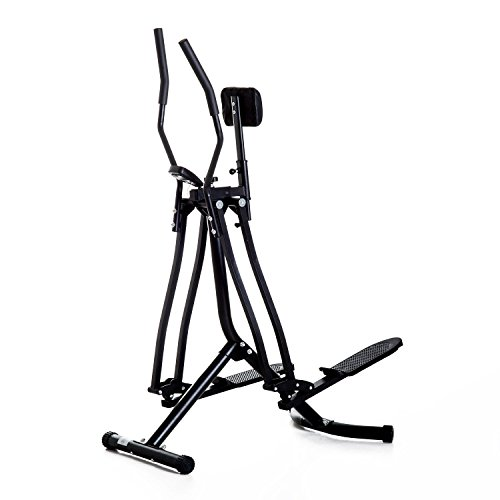 homcom Air Walker Cross Trainer Ellittica per Fitness Allenamento a Casa con Display Nero