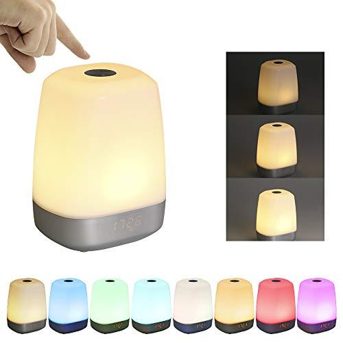 Lichtwecker Wake Up Licht, Tomshine LED Tageslichtwecker mit Sonnenaufgang, Wake Up Light mit 5 Natürliche Wecktöne, Lichtwecker Nachtlicht für Kinder, USB Nachttischlampe mit Touchfunktion