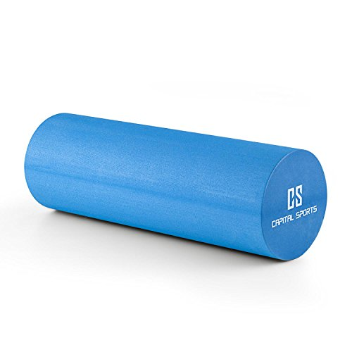 Capital Sports Caprole 2 Rodillo de Masaje 45 x 15 cm Azul (Cilindro gomaespuma masajeador, Superficie con Relieve, Tubo automasaje Entrenamiento)