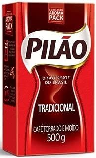 Pilao Coffee Traditional Roast and Ground- Café Torrado e Moído - 17.60oz. (500g)(PACK OF 4)