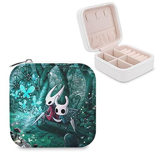 Hollow KnightJewelry - Caja de almacenamiento para joyas con compartimento para la gestión del hogar, viajes, pendientes y collar de moda