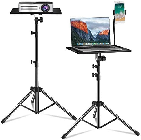Laptop Tripod Laptop Floor Stand Adjustable Height 17 7 to 47 2 Inch with Gooseneck Phone Holder product image