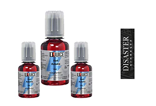 T-Juice Red Astaire 3 x 30ml 3er Aroma Bundle + Disaster Akku Wrap Red Astaire Liquid selber mischen || Made in UK