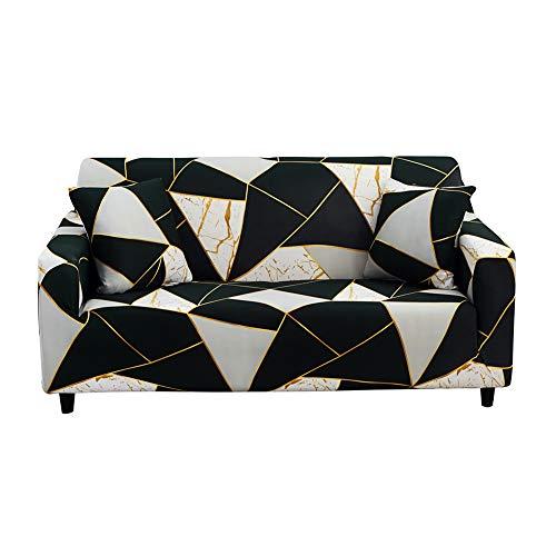 HOTNIU Elastischer Sofabezug 2 Sitzer Sofahusse Strech Sofa Überzug Couch Cover Muster Couchbezug Sofabezüge...