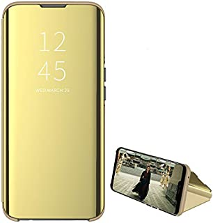 Custodia® Mirror Plating Clear View Stand Function Flip Case for Xiaomi Mi Note 10 Pro (Gold)