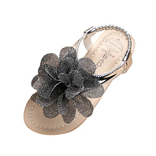 YWLINK Sandalias De Verano para NiñA Zapatos Lindos De Princesa De Flores El Fondo Suave Antideslizante Es CóModo Zapatos De Baile Zapatos De Fiesta Zapatillas De Playa Bautismo Regalo De CumpleañOs