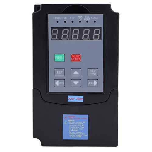 Wosune Convertidor de frecuencia Variable, convertidor de frecuencia de 0,75 KW, prácticos y duraderos tornos ABS para Motores de husillo