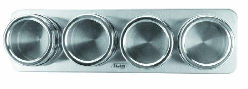 IBILI 665700 - Set 4 Especieros Magneticos INOX 6X4 Cm