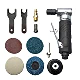 1/4 inch angle air die grinder with 4 pcs 2' roll lock sanding discs