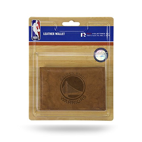 Desconocido NBA Golden State Warriors Funda Trifold Cartera de Piel con