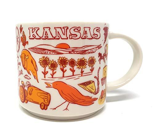 Starbucks KANSAS Been There Series Ceramic Coffee Mug, 14 Fl Oz