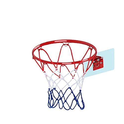 MHCYKJ Canasta Baloncesto Interior Casa De Puerta Juego Montado En La Pared para Niños Mini Aro con Pelotas Puertas Oficina Instalar Dos Y Inflador Infantil