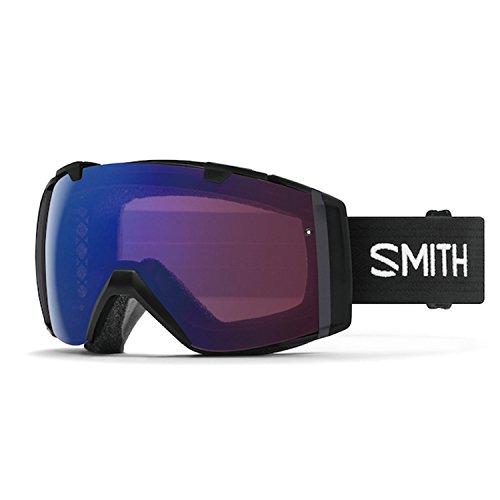 Smith Optics Adult I/O Snowmobile Goggles Black/ChromaPop Everyday Red Mirror