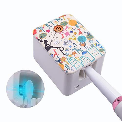 歯ブラシ除菌器 紫外線LED 99.99%除菌 壁掛け・携帯両用歯ブラシホルダー UBS充電式 UV-C殺菌消毒 歯ブラシ収納 自動タイマー 小型 軽量…