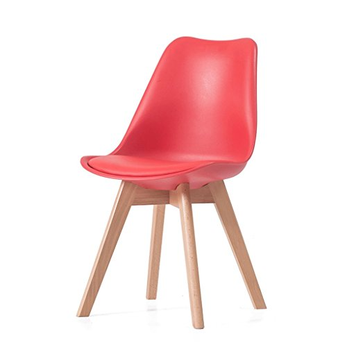Fauteuils Chaise Longue en Bois Massif à la Maison Chaise Longue à la Chaise en Bois et Chaises (Couleur : Rouge)