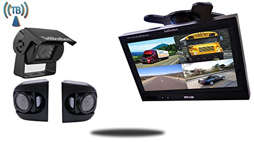 Tadibrothers 7 Inch Wireless Ultimate CCD RV Trailer Backup Camera System with Premium Side...