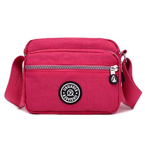 Outreo Cruz impermeable bolso casual bolsa lateral pequeño y ligero bolsa de...