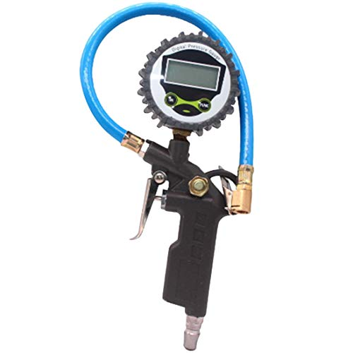 Tpms Monitor de presión de neumáticos Medidor de presión Automóvil Carro de automóvil Neumático de aire Inflador de neumáticos con controlador de dique indicador Tester 5 (Color : Digital Display)
