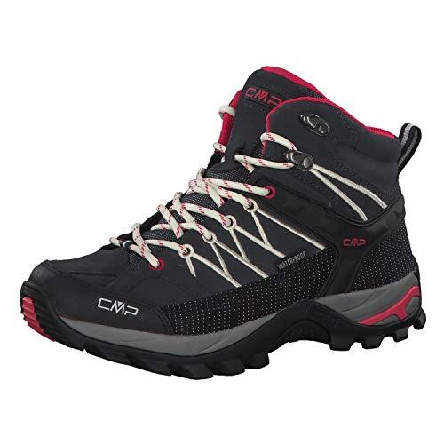 CMP Rigel Mid Wmn Trekking Shoe WP, Scarpe da Arrampicata Alta Donna, Grigio (Antracite-off White 76uc), 36 EU