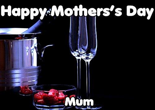 Happy Mother's Day Card aardbeien en champagne chmd73 A5 Gepersonaliseerde groeten
