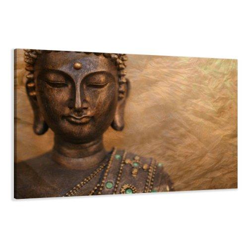 bestpricepictures 120 x 80 cm Bild auf Leinwand Buddha 5041-SCT deutsche Marke und Lager - Die Bilder/das Wandbild/der Kunstdruck ist fertig gerahmt