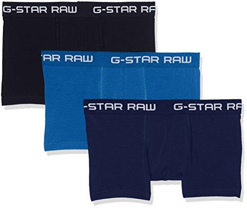 G-STAR RAW Herren Classic Trunk CLR 3 Pack Boxershorts, Mehrfarbig (Lt Nassau Blue/Imperial B 8528), Medium (3er Pack)