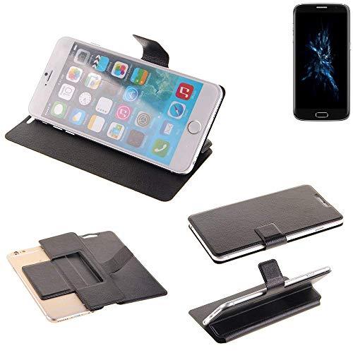 K-S-Trade® Handy Schutz Hülle Für Bluboo Edge Flip Cover Handy Wallet Case Slim Bookstyle Schwarz