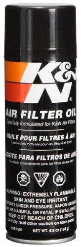 K&N Air Filter Oil: 6.5 Oz Aerosol; Restore Engine Air Filter Performance and Efficiency, 99-0504