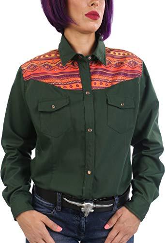 Last Rebels Country - Camisa para mujer, diseño indio americano, color verde verde L