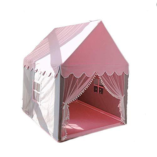 Kinderzelt Kinderzelt Indoor Spielzeug Haus Mädchen Bett Prinzessin Schloss Kleines Haus Rosa Abnehmbares Montagezelt Langlebig,Rosa,Einheitsgröße