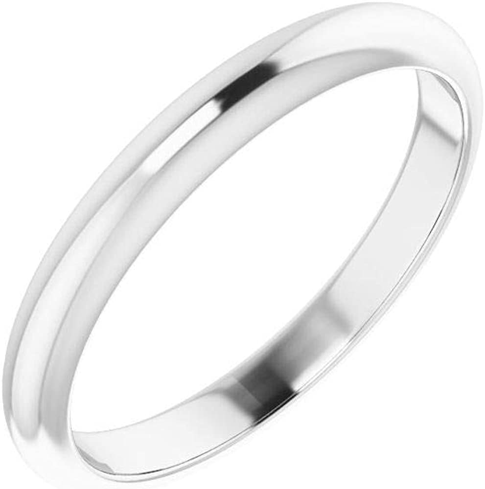 Solid 10K White Gold Curved Notched Wedding Band for 5 x 5mm Square Ring Guard Enhancer - Size 7