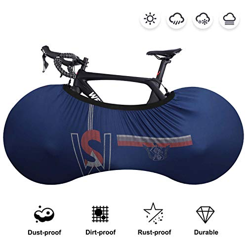 WESTGIRL Fahrradabdeckung, staubgeschützte Aufbewahrungstasche für Fahrräder, abwaschbares, kratzfestes, elastisches Fahrradreifen Paket für Mountainbike Rennrad, hält Böden und Wände schmutzfrei