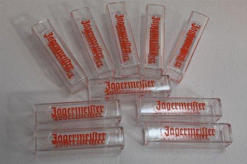 10x Jägermeister Tooter - Reagenzglas eckig geprägt 0,02