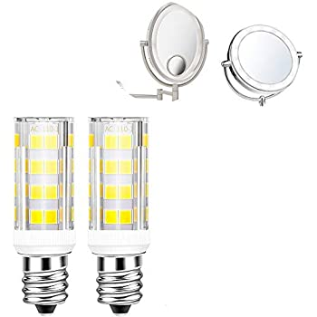 2Pack 4W LED Replacement Light Bulb for Cosmetic Vanity Makeup Mirror with Single Double Sided Lighted Magnification | Dryer Drum Light Replacement  Daylight White
