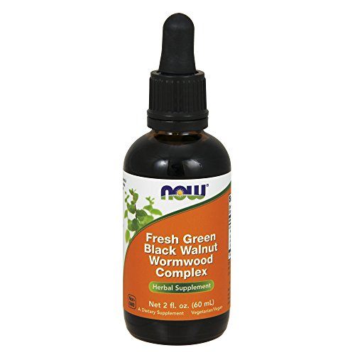 NOW Verde Negro Nogal Ajenjo Complex Herbal Suplemento 60 ml